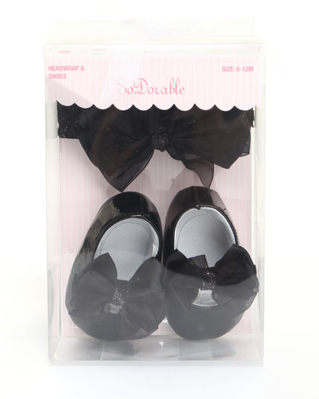 Drj Baby Heaven Shop Girls Black Satin Bow And Patent Mary Jane Shoe Black 6-12 Mo