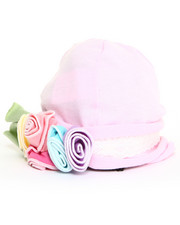 Black Friday Shop - Girls - Rose/Lace Trim Knit Hat (Infant)
