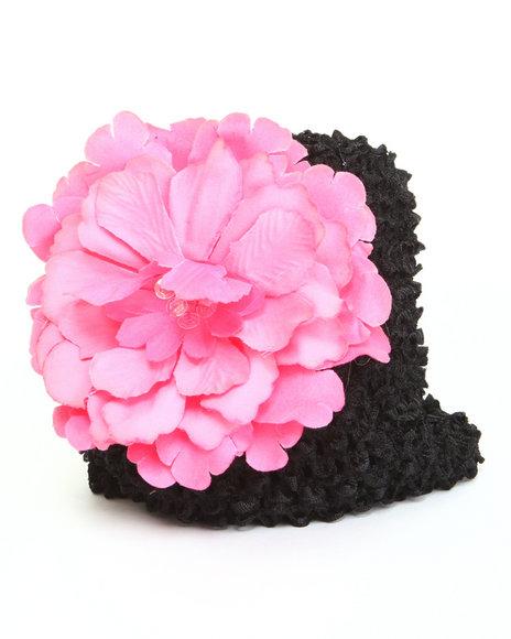 Drj Baby Heaven Shop Girls Flower Power Crochet Hat (Infant) Black 0 Infant
