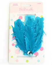 Girls - Feather Rhinestone Trim Headband