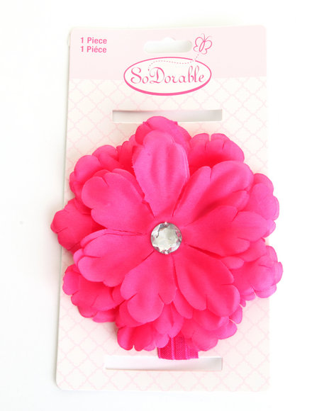 Drj Baby Heaven Shop Girls Flower Power Headband Dark Pink