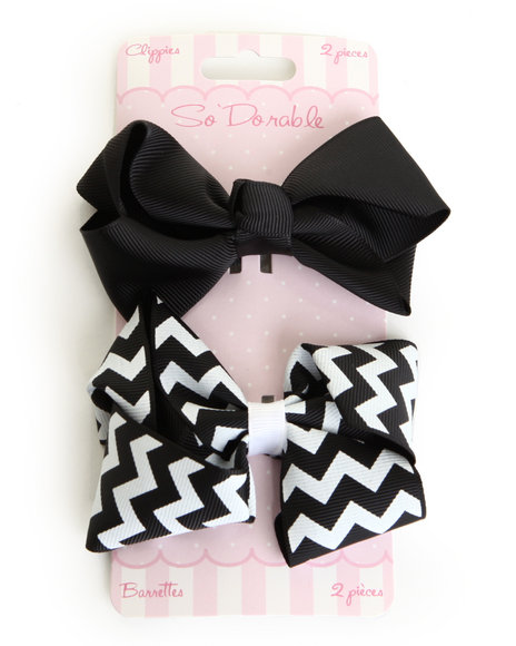 Drj Baby Heaven Shop Girls Chevron/Solid 2 Pc Slips Set Black