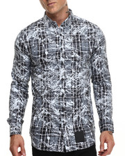 Rocawear - Splattered Tartan L/S Button-down