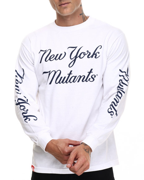 Uxa - Men White Clipper L/S Tee - $36.00