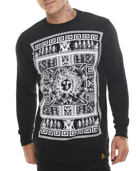Last Kings - Men Black Last Kings Celestial Crewneck Sweatshirt