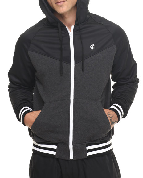 Rocawear - Men Black Triad Hooded Track Jacket