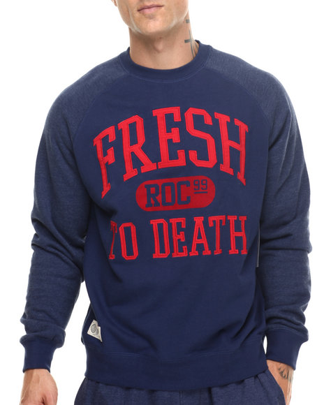 Rocawear Men Fresh Crewneck Sweatshirt Navy XXLarge