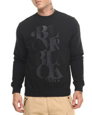 Men - Blak on Black Crew Fleece Sweatshirt