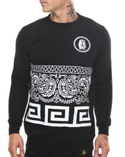 Men - Last Kings Bandana - Fringe Crewneck Sweatshirt