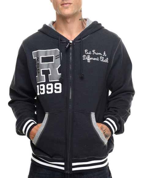 Rocawear - Men Black Reversible Zip Hoodie
