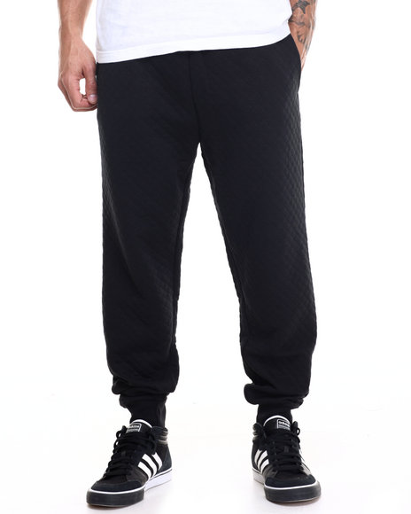 Rocawear - Men Black Roc Diamond Quilted Pants