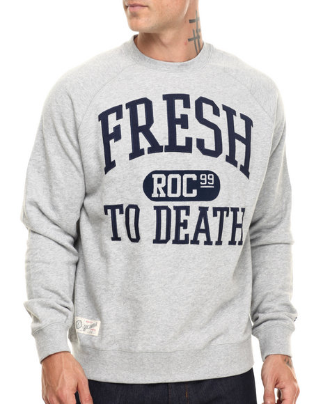 Rocawear - Men Grey Fresh Crewneck Sweatshirt