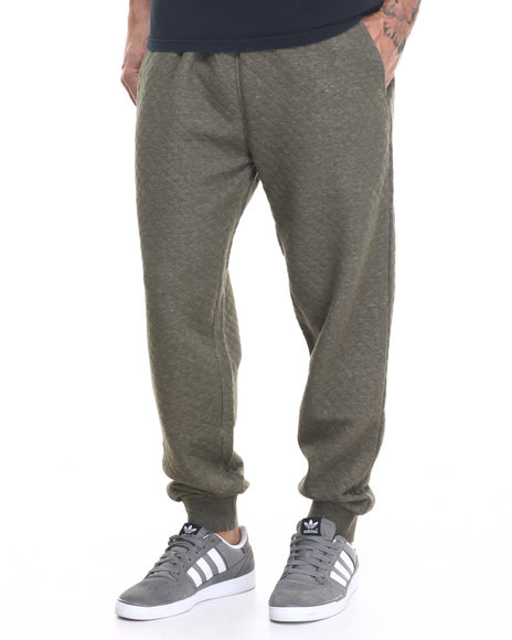 Rocawear - Men Olive Roc Diamond Quilted Pants