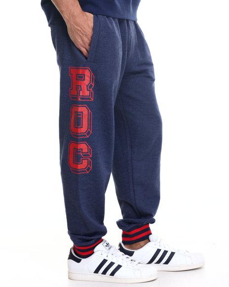 Rocawear Men Roc Block Joggers Navy Medium