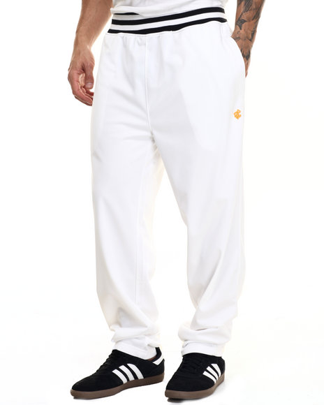 Rocawear Men Campus Track Pants White Large