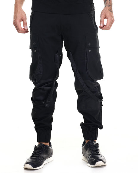Rocawear Blak - Men Black Paratrooper Pants