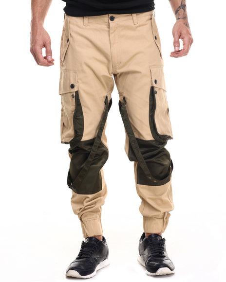 Rocawear Blak - Men Olive,Tan Paratrooper Pants