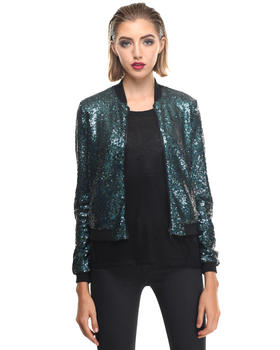 Light Jackets - POLNAREFF W - Sequin Bomber
