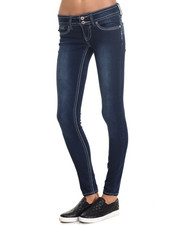 Women - Lola Super Skinny Curby DBL Button