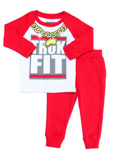 Boys - 2 PC GOLD CHAINZ JOGGER SET (2T-4T)