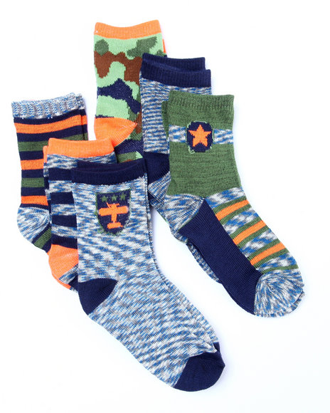 Drj Sock Shop Boys Space Dye 6 Pk Anklet Socks (4-5 Years) Multi Medium= 4-5 Yrs - $3.99