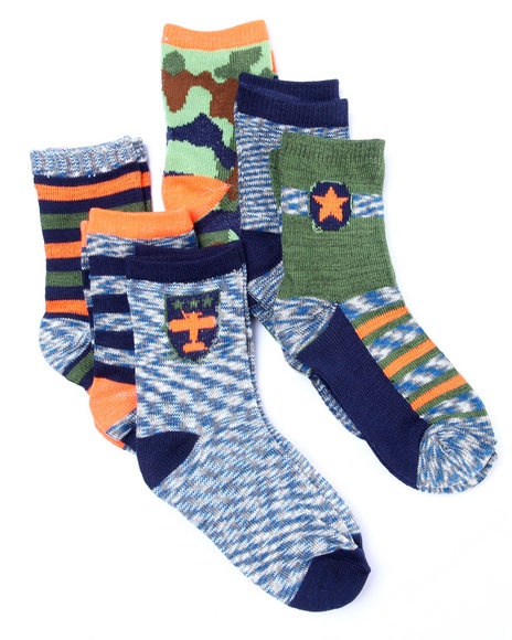 Drj Sock Shop Boys Space Dye 6 Pk Anklet Socks (2-3 Years) Multi Small=2-3 Yrs - $5.99