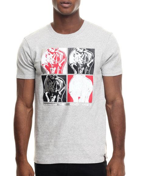 Ecko - Men Grey Double Down T-Shirt