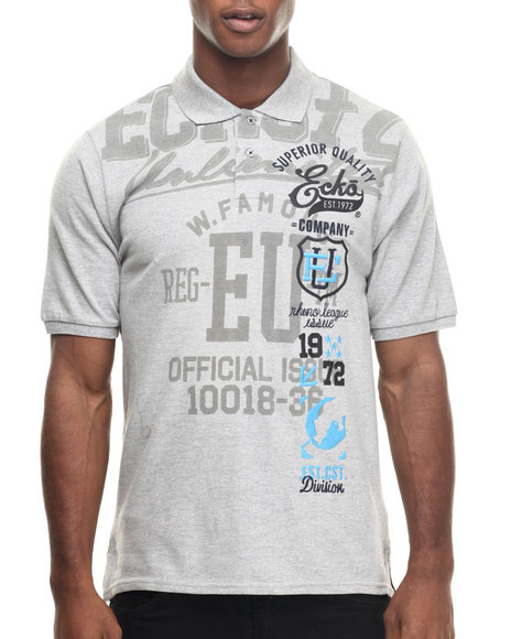 Ecko - Men Grey Elevated Block Polo - $34.00