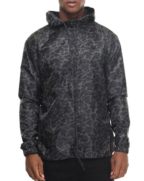 Diamond Supply Co - Men Black Camo Windbreaker