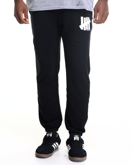 Undftd - Men Black 5 Strike Terry Sweatpants