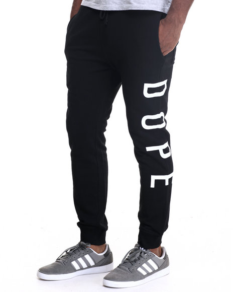 Dope - Men Black Square Logo Sweatpant