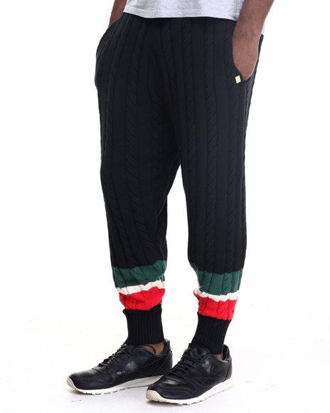 Rocawear Blak - Men Black Carlton Sweater Knit Pants