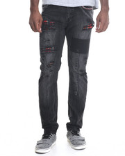 Men - Blak Work Slim Leg Jeans