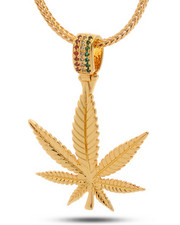 Jewelry & Watches - 14K Gold Rasta Leaf Necklace
