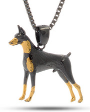 Jewelry & Watches - 18K Gold Two-Tone Doberman Necklace
