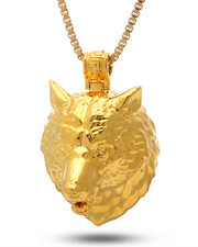 Jewelry & Watches - 18K Gold Wolf Necklace