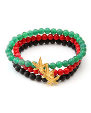 Jewelry & Watches - JUNGL JULZ .925 STERLING SILVER RASTA BRACELET SET