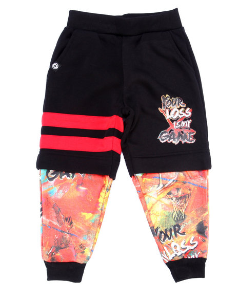 Akademiks Black,Multi Sweatpants