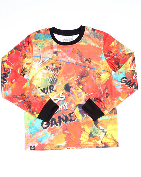 Akademiks - Boys Multi L/S Game Time Sublimation Tee (8-20)