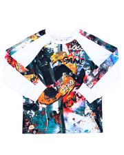 Akademiks - L/S RAGLAN SUBLIMATION GAME TIME TEE (4-7)
