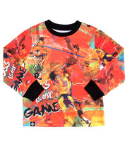 Akademiks - L/S GAME TIME SUBLIMATION TEE (4-7)