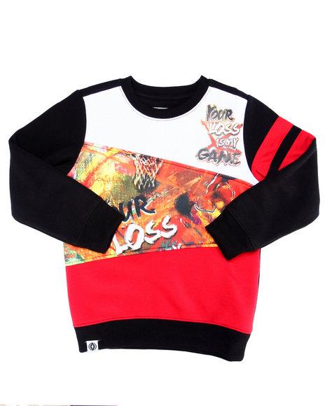Akademiks - Boys Multi Cut & Sew Game Time Sweatshirt (8-20)