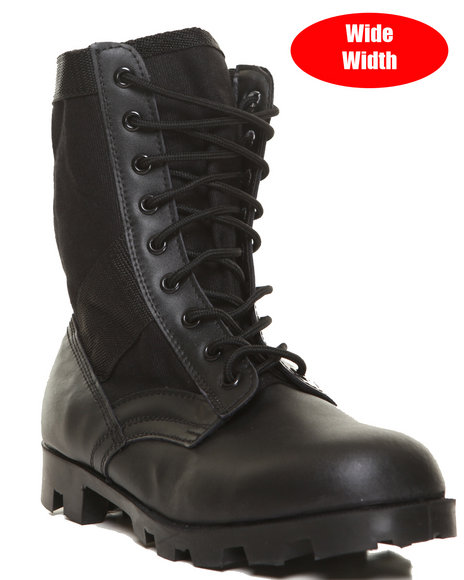 Rothco - Men  Rothco Black G.I. Type Speedlace Jungle Boot (Wide Width) - $63.99