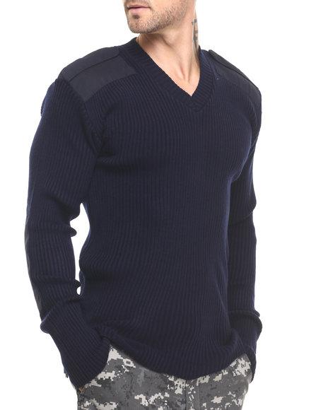 Rothco - Men Blue Rothco G.I. Style Acrylic V-Neck Sweater