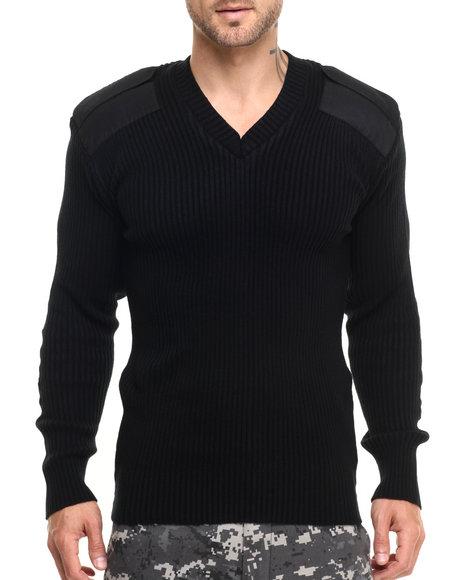 Rothco Men Rothco G.I. Style Acrylic V-Neck Sweater Black Medium