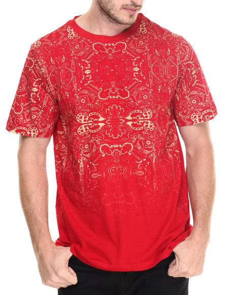 Waimea - Men Red Faded All Over Print