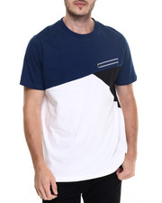 T-Shirts - Pieced Crew Tee with Zipper