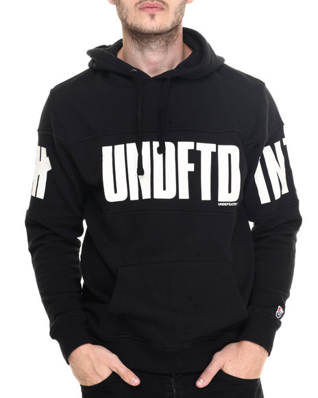 Undftd - Men Black Estorial Pullover Hoodie