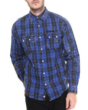Button-downs - Haig Plaid acid wash L/S button down shirt