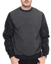 Pullover Sweatshirts - MA-1 Crew French Terry Sweatshirt